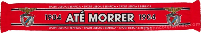 cachecol benfica 1904 ate morrer