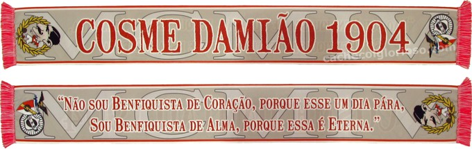 cachecol benfica cosme damiao 1904 fans