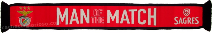 cachecol benfica man of the match sagres