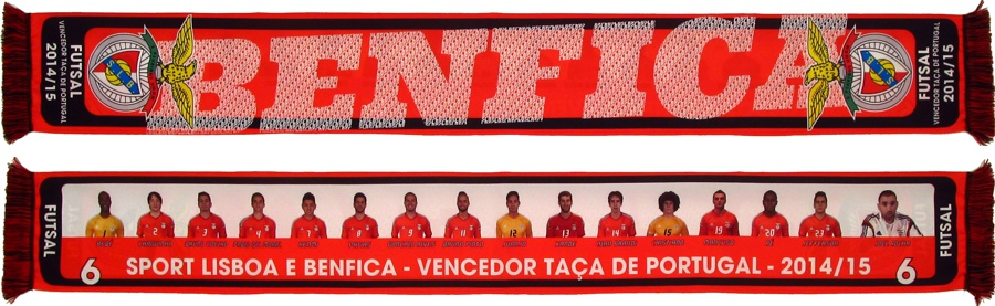 cachecol benfica futsal taca portugal 2014-15