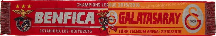 cachecol benfica galatasaray liga campeoes 2015-16