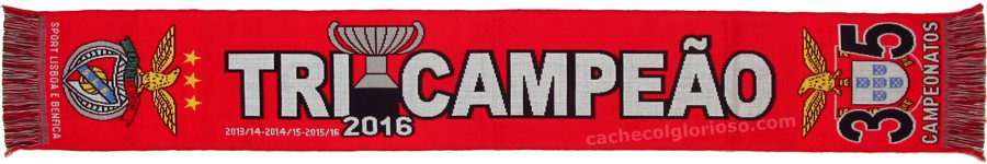 cachecol benfica tricampeoes 2106 35 campeonatos