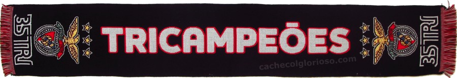 cachecol benfica 35 tri tricampeoes 2105-16 preto