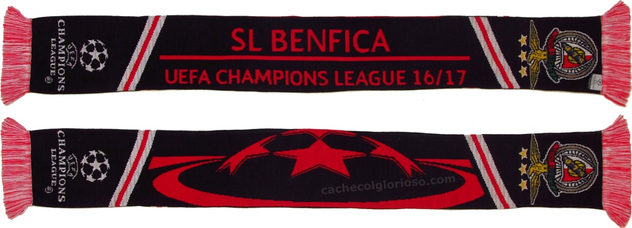 cachecol benfica champions league 2016-17 uefa