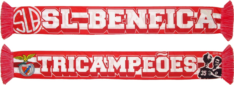 cachecol sl benfica tricampeoes fans